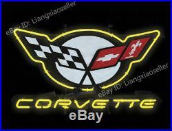 17X14 Corvette C5 CAR DEALER NEON SIGN BEER BAR business LIGHT