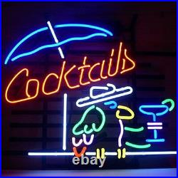 17x14Cocktails Neon Sign Light Beer Bar Pub Wall Decor Nightlight Artwork Gift