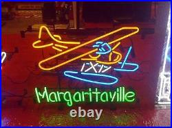 17x14Margaritaville Airplane Neon Sign Light Beer Bar Pub Wall Hanging Artwork