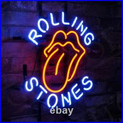 17x14ROLLING STONES Neon Sign Light Beer Bar Pub Studio Party Wall Decor Gift
