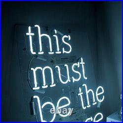 17x14This Must Be The Place Neon Sign Light Beer Bar Pub Wall Hanging Artwork