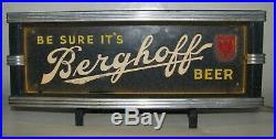 1929 Prohibition Era Berghoff Beer Neon Advertising Sign Lackner Cincinnati, OH