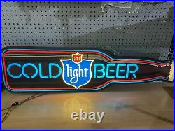 1982 Lone Star Beer Bottle Sign Light Neon Appearance Vintage 46 Inches Long