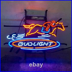19x15Bud Light Horse Racing Neon Sign Light Beer Bar Pub Wall Hanging Artwork