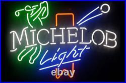 19x15MICHELOB LIGHT Golf Neon Sign Light Club Beer Bar Pub Wall Decor Artwork