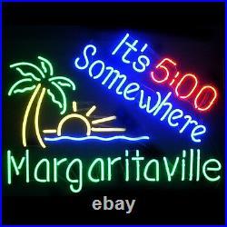 19x15Margaritaville It's 500 Somewhere Neon Sign Light Beer Bar Wall Hanging