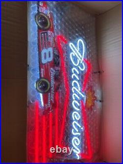 2008 Budweiser beer Dale Earnhardt Jr #8 nascar racing Neon Light up sign NOS