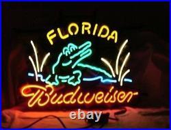 24x20Florida Budweiser Neon Sign Light Beer Bar Pub Wall Hanging Nightlight