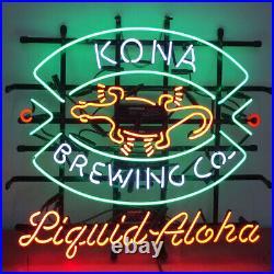 24x20New Kona Brewing Co. Neon Sign Light Beer Bar Pub Windows Hanging Artwork