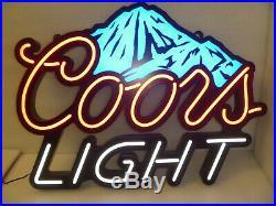 28 x 22 COORS LIGHT BEER Blue Mountains NEON LED Sign MANCAVE BAR GARAGE