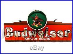 Anheuser Busch Budweiser King Of Beers Neon Light Eagle Beer Bar Sign (elm)