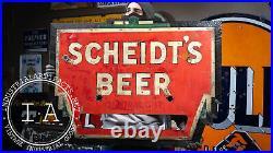 Antique Scheidt's Beer Neon Sign c. 1930