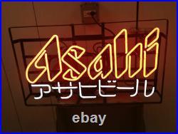 Asahi Beer Japanese Sushi Fish Neon Light Sign 24x20 Beer Bar Decor Lamp Glass
