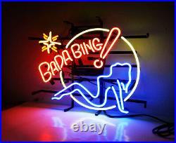 BADA BING Girl Strip Hand Craft Neon Sign Light Boutique Workshop Beer Bar Pub