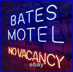 BATES MOTEL NO VACANCY Neon Sign Man Cave Bar Beer Room Decor Light18''x14'