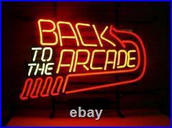 Back to the Arcade Neon Light Sign Lamp 17x14 Beer Bar Glass Decor