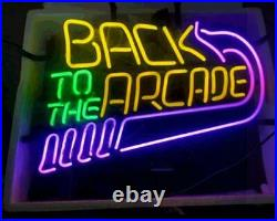 Back to the Arcade Neon Light Sign Lamp 17x14 Beer Tube Glass Decor