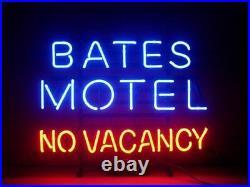 Bates Motel No Vacancy Neon Light Sign Lamp 17x14 Beer Bar Glass Decor