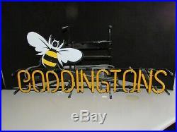 Boddingtons Brewing English Manchester New England Neon Beer Bar Sign light Bee