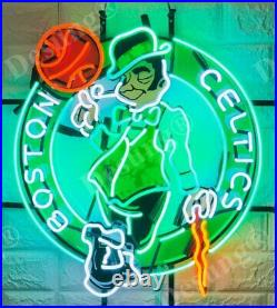 Boston Celtics Vivid Neon Sign 24x20 Bar Pub Beer Light Lamp Gift Glass