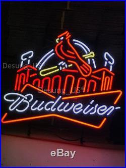 Brand New Budweiser Bud Light St Louis Cardinals Beer Neon lIGHT Sign 24x20
