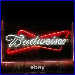 Budweiser Beer Bud Led Neon Light Up Sign Bar Pub Club Man Cave Decor Crafts