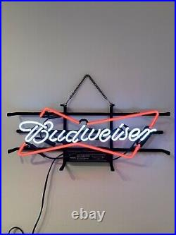 Budweiser Beer Lager REAL GLASS neon sign light 45cm Master Crafted