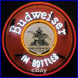 Budweiser Bud in Bottles Neon Sign Bud Bar beer light wall lamp vintage style