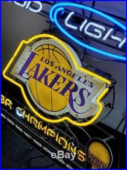 Budweiser Los Angeles Lakers Bud Light Neon Sign Beer Bar