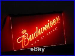 Budweiser RED 3D Printed UK Bar Pub Beer Mancave Neon Sign LED Light Plaque