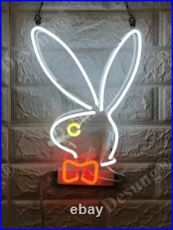 Bunny Rabbit Neon Sign Lamp Light With Dimmer Acrylic Beer Bar