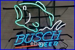 Busch Beer Bass Fish Real Neon Sign Beer Bar Light Home Decor Hand Made Artwork