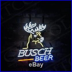 Busch Beer Deer Sign Hand Craft Neon Light Boutique Workshop Beer Bar Decor