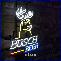 Busch Beer Real Glass Store Neon Sign Artwork Handmade Decor Gift