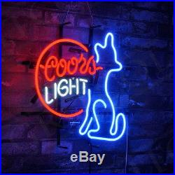 COORS Light Neon SIgn Doggy Light Beer Pub Club VIntage Patio Bistro Artwork