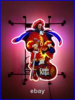 Captain Morgan Rum Neon Sign Lamp Light Vivid Beer Bar With Dimmer