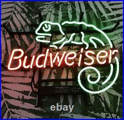 Chameleon Beer Restaurant Wall Decor Neon Sign Light Poster Display 17x13