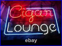 Cigar Lounge Neon Light Sign 24x20 Beer Bar Decor Lamp Glass Artwork