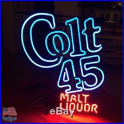 Colt 45 Beer Malt Liquor Vintage 1990s Beer Pub Bar Neon Sign 20x16 From USA