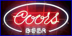Coors Beer Neon Sign Beer Bar Gift 17x14 Lamp Man Cave