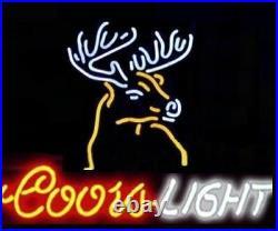 Coors Light Deer Neon Sign Lamp Light Decor Beer Bar With Dimmer