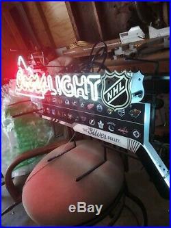 Coors Light Neon Beer Sign NHL Hockey Team Pub Light Bar Tavern Issue Man Cave