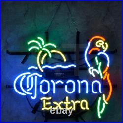 Corona Extra Beer Store Wall Real Glass Artwork Display Neon Sign Decor Handmade