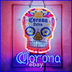 Corona Extra Skull Acrylic Neon Light Sign 20 Display Bar Beer Pub Hanging