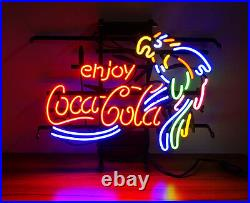 Enjoy Cola Parrot Neon Light Pub Club Sign Beer Bistro Patio Vintage Man Cave