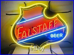 Falstaff Beer Bar Neon Sign 24x20 HD Vivid Printing Technology
