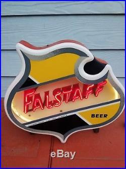 Falstaff Beer Sign Countertop Neon 1950s