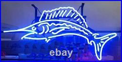 Fresh Fish Open Neon Sign 20x10 Light Lamp Beer Bar Display Artwork Windows