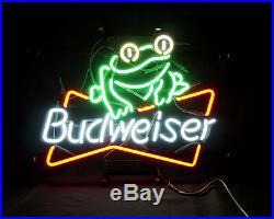 Frog Beer Bar Bistro Pub Neon Sign Light Bud Artwork Poster Bistro Man Cave