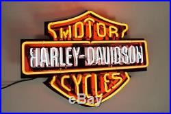 Harley Davidson Bar&Shield Neon Sign Beer Bar Pub Sign Wall Decor Night Light